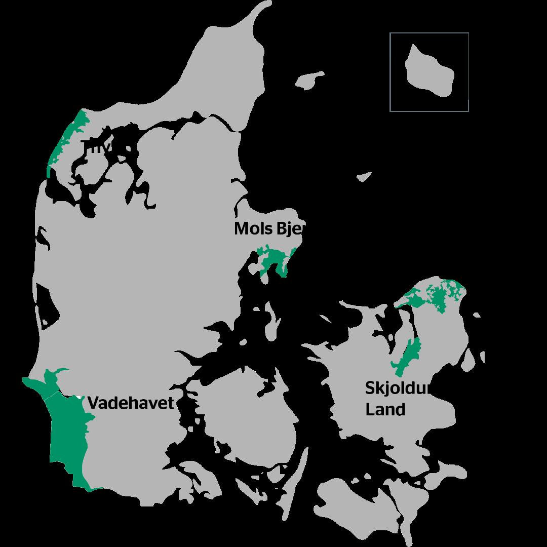 danmark jylland kort