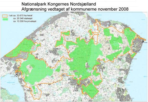 Kommunernes forslag til afgrænsning af Nationalpark Kongernes Nordsjælland